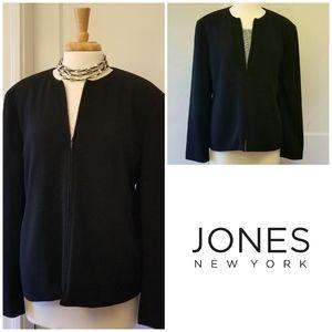 Jones NY zip suit jacket